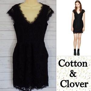 Aritizia Babaton Tobias Dress Lace Black LBD Sz 10